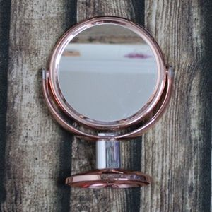 🎀3/$30 Rose Gold Copper Mirror On Stand